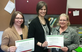 Courtney Johnson (left), Becci Rasmussen (center) and Jennifer Alger were three of six U of M Extension youth staff from across the state who received the Associate Dean's Award for Courage and Innovation. They are leading the way in changing youth programs in Warba, Grand Rapids, Deer River and Nashwauk.